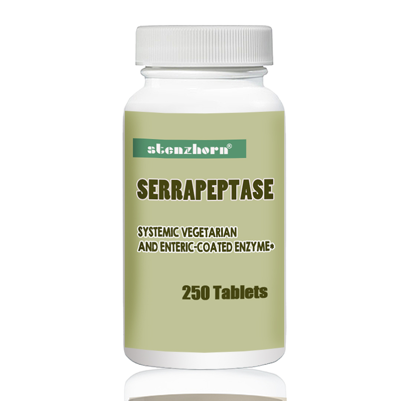 Serrapeptase 80,000iu 250 pcs enzyme may reduce the viscosity of mucus in the respiratory tract.