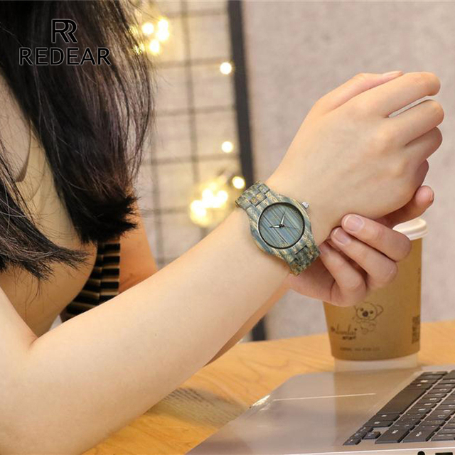 REDEAR Couples Bule Bamboo Wood Watch Designer Brand Luxury Women Automatic Watch Men Dropshipping