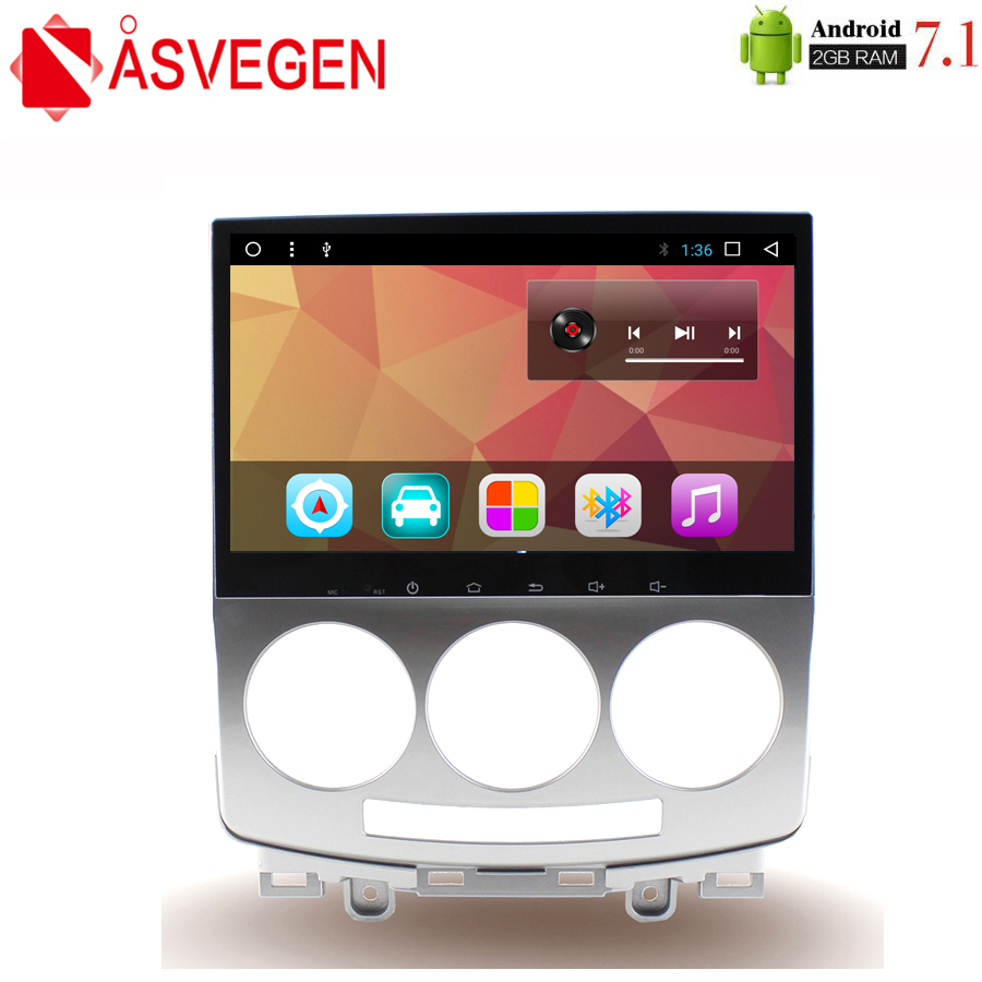 Asvegen 9 inch Android 7.1 Quad Core Car Radio For Mazda 5 2005 2010 GPS Navigation Stereo Headunit WIFI 4G Media DVD Player