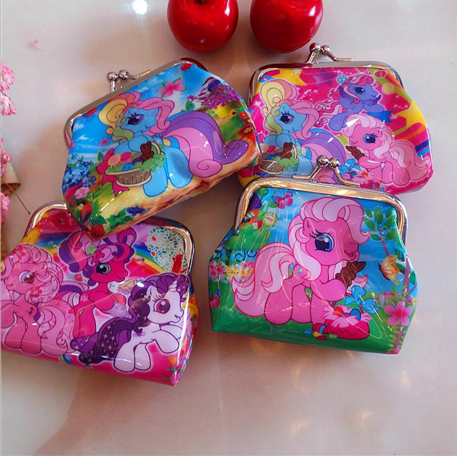 цены New cartoon pony Coin Purse kids hello kitty wallet Girls Kids money bag Children Party Gift in stock