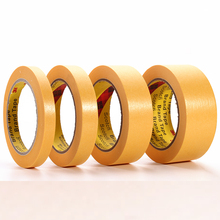 Masking Tape Crepe Texture Paper Tape 3M 244 High-temperature Resistant Painting Spray Shield Traceless 50m Yellow Custom Made