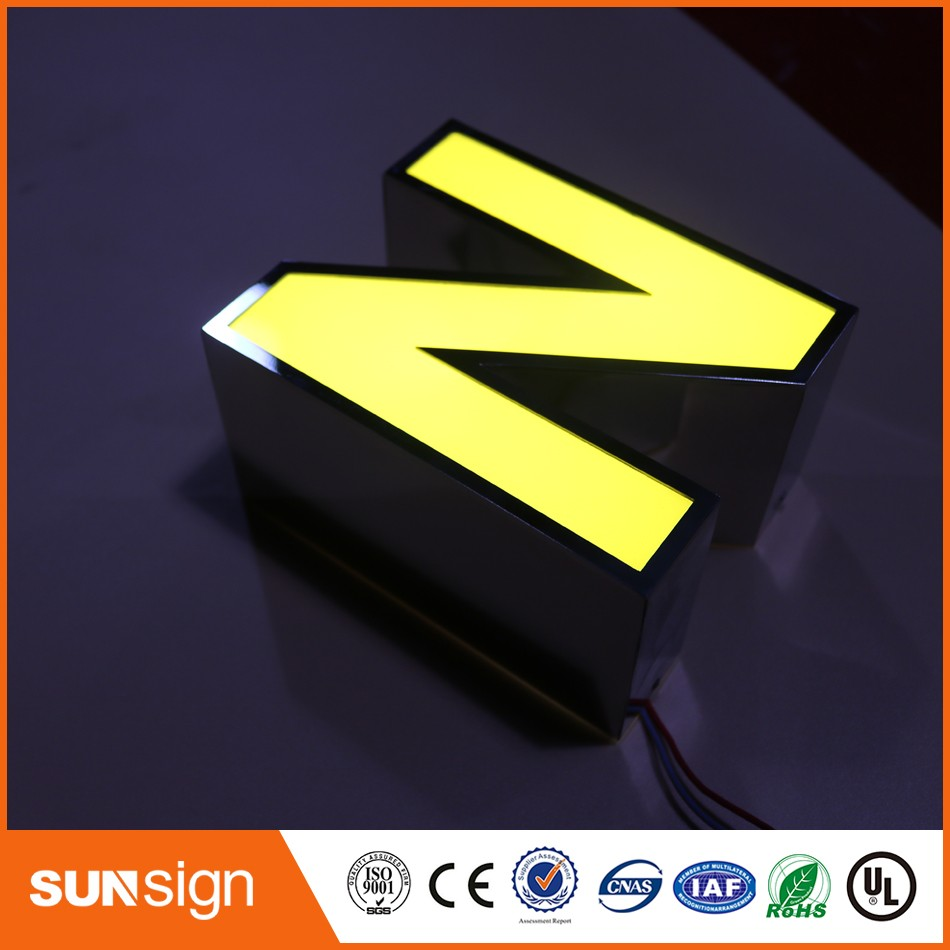 Custom Store Decorative Painted Stainless Steel Led Letters
