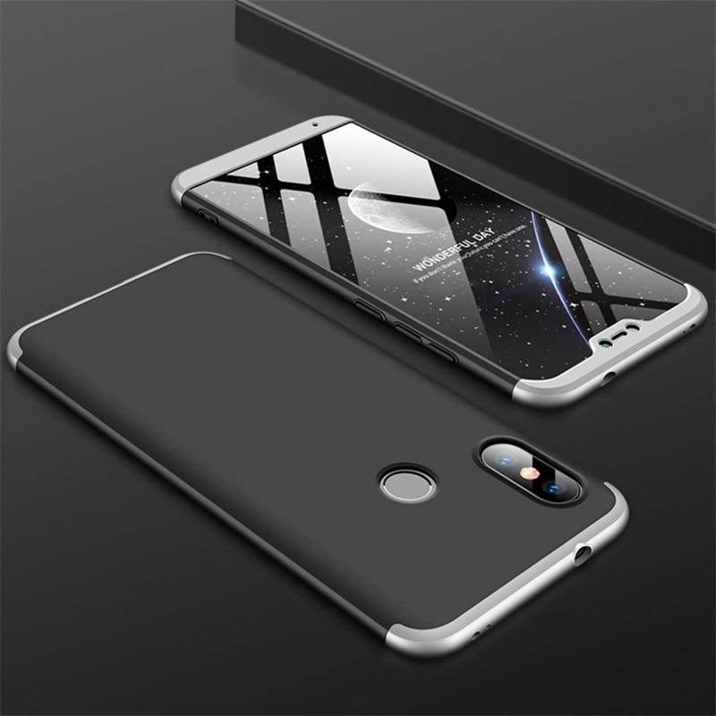 HTB1oMCVjhYaK1RjSZFnq6y80pXaR 3-in-1 Case 360 for Xiaomi Mi A2 A3 lite Mi A2 A1 Phone Case Hard for Xiaomi Mi A1 A2 A3 Cover Tempered Glass Case Fully Cover