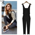 Hot Fashion Stylish Lady Women Sleeveless Elastic Waist Trouser Jumpsuit Overalls 63