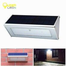 Güneş sensörlü ışık tarafından Radar hareket güvenlik 48 LED vurgulamak bahçe su geçirmez güneş lambası açık alüminyum sokak lampada