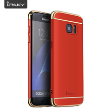 Hybrid Case For Samsung S7, IPAKY 3 In 1 PC Electroplated Complex Structure Matte Luxury Case Cover For Samsung Galaxy S7 G930