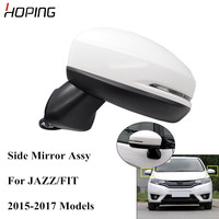Hoping Auto Outer Side Mirror Assy For For HONDA FIT JAZZ GK5 2015 2016 2017 Base Color 5PINS 7 PINS