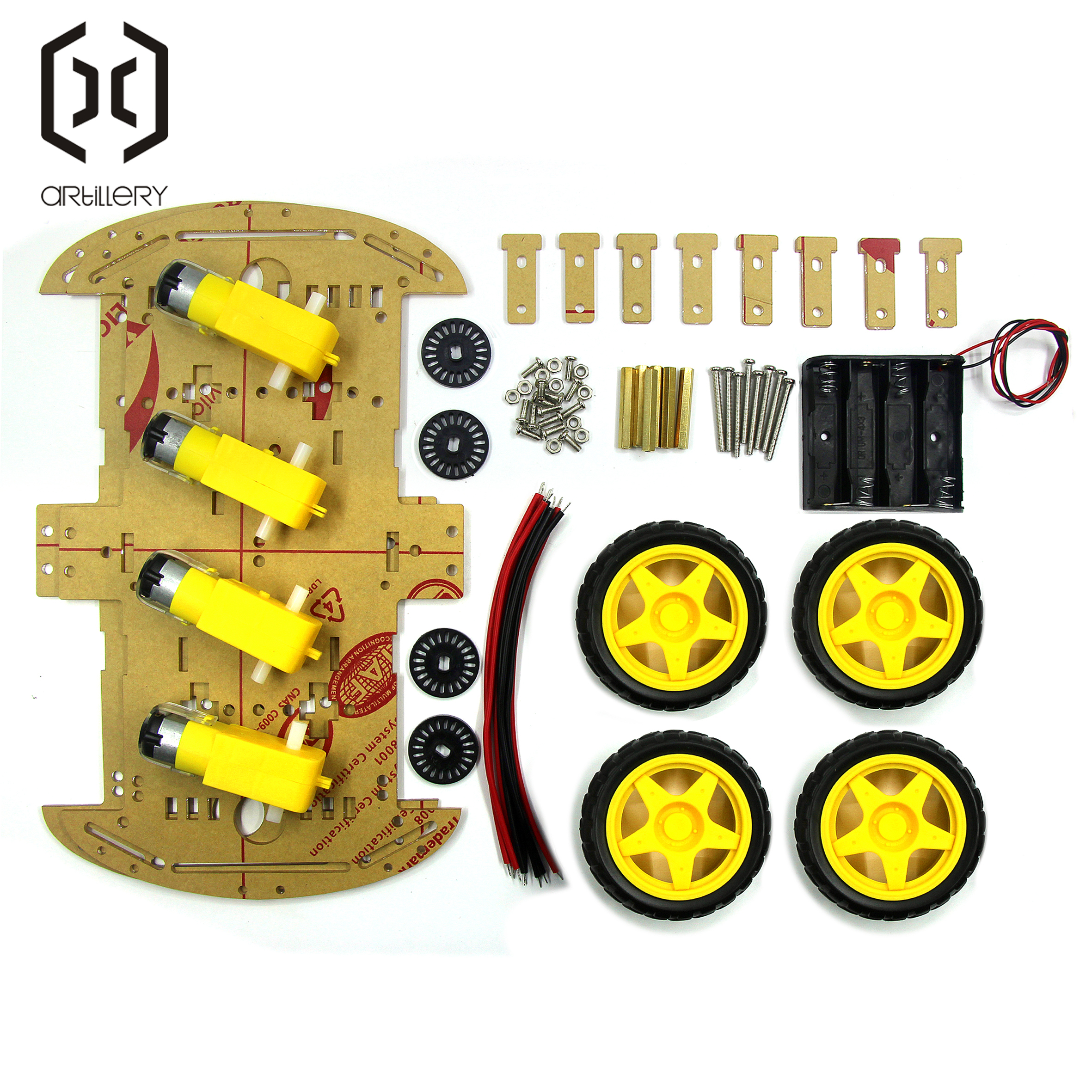 4WD Smart Robot Car Chassis Kits with Speed Encoder New Smart Car Chassis-in Integrated Circuits from Electronic Components & Supplies