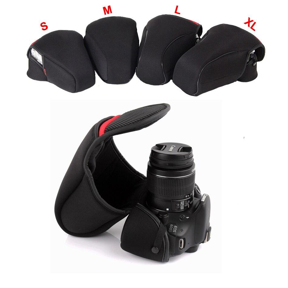 DSLR cámara interior suave funda bolsa para el Nikon D40 D7500 D7200 D7100 D7000 D3400 D3200 D3300 D5100 D5600 D5500 D5300 D5200 D90 D700