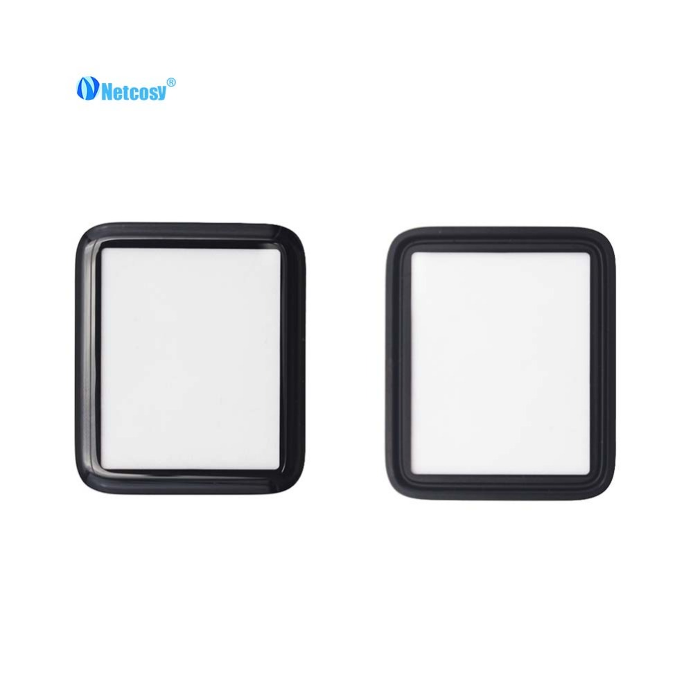 Netcosy Front <font><b>Screen</b></font> Outer Glass Lens <font><b>Replacement</b></font> Patrs For <font><b>Apple</b></font> <font><b>Watch</b></font> Series S2 S3 38mm <font><b>42mm</b></font> S4 40mm 44mm cover plate image