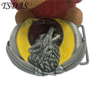 Wholesale Colorful Zinc Alloy Animal Wolf Metal Belt Buckle For Mens Accories Suitable For 4cm Width