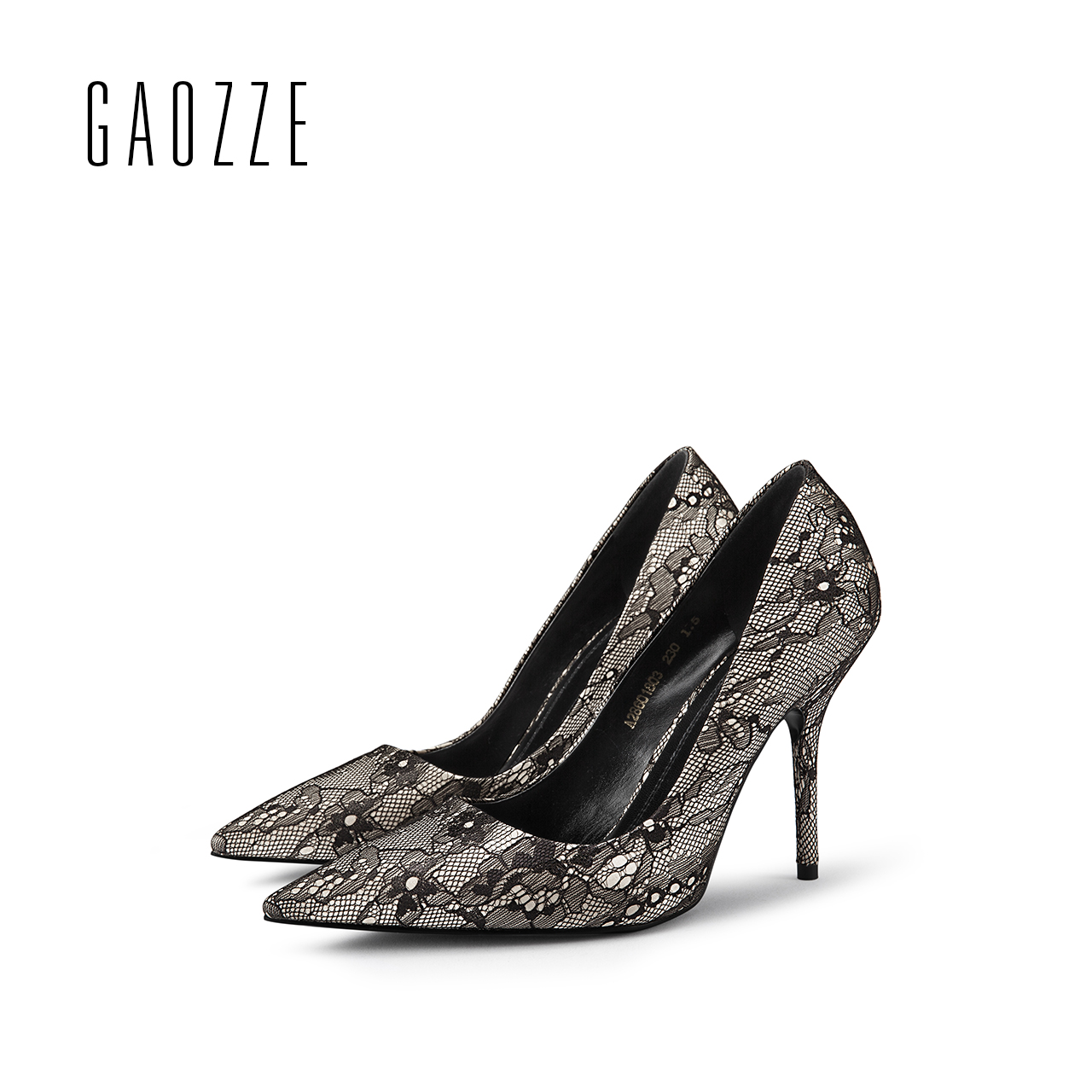GAOZZE Black Elegant Lace Ladies Pumps Pointed Toe High Heel Shoes Party Women Pumps Shoes Designer zapatos mujer 2018 Spring famiaoo women pumps chaussure femme black gray zapatos mujer tacon high heel 2017 pointed toe thin heel ladies pumps women shoes