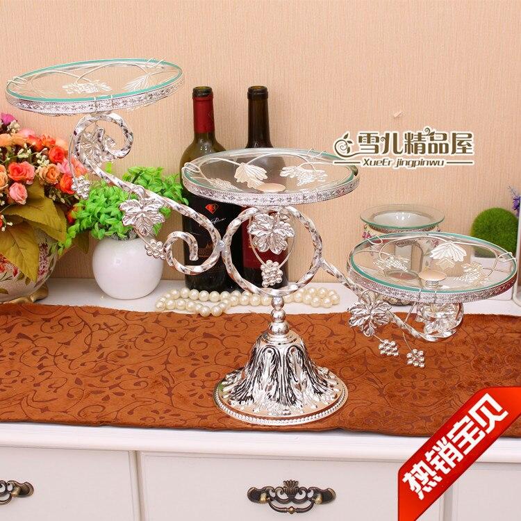 Европейская мода лоза Фруктовая тарелка три слоя торт компот роскошные свадебные украшения инвентарь сердце украшение для дома