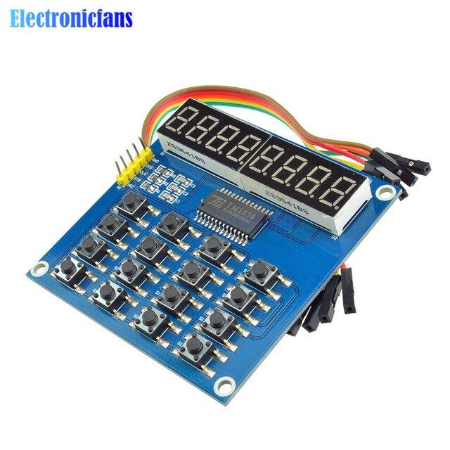 DIY KIT TM1638 Digital LED Display 3-Wire 16 Keys 8 Bits Keyboard 8-Bit Digital Tube Board Scan And KEY LED Module For Arduino