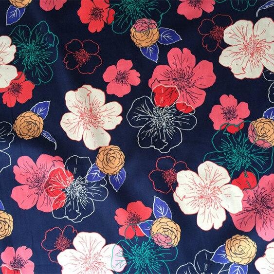 145x100cm Floral Print 100 Cotton Japanese Patchwork Fabric