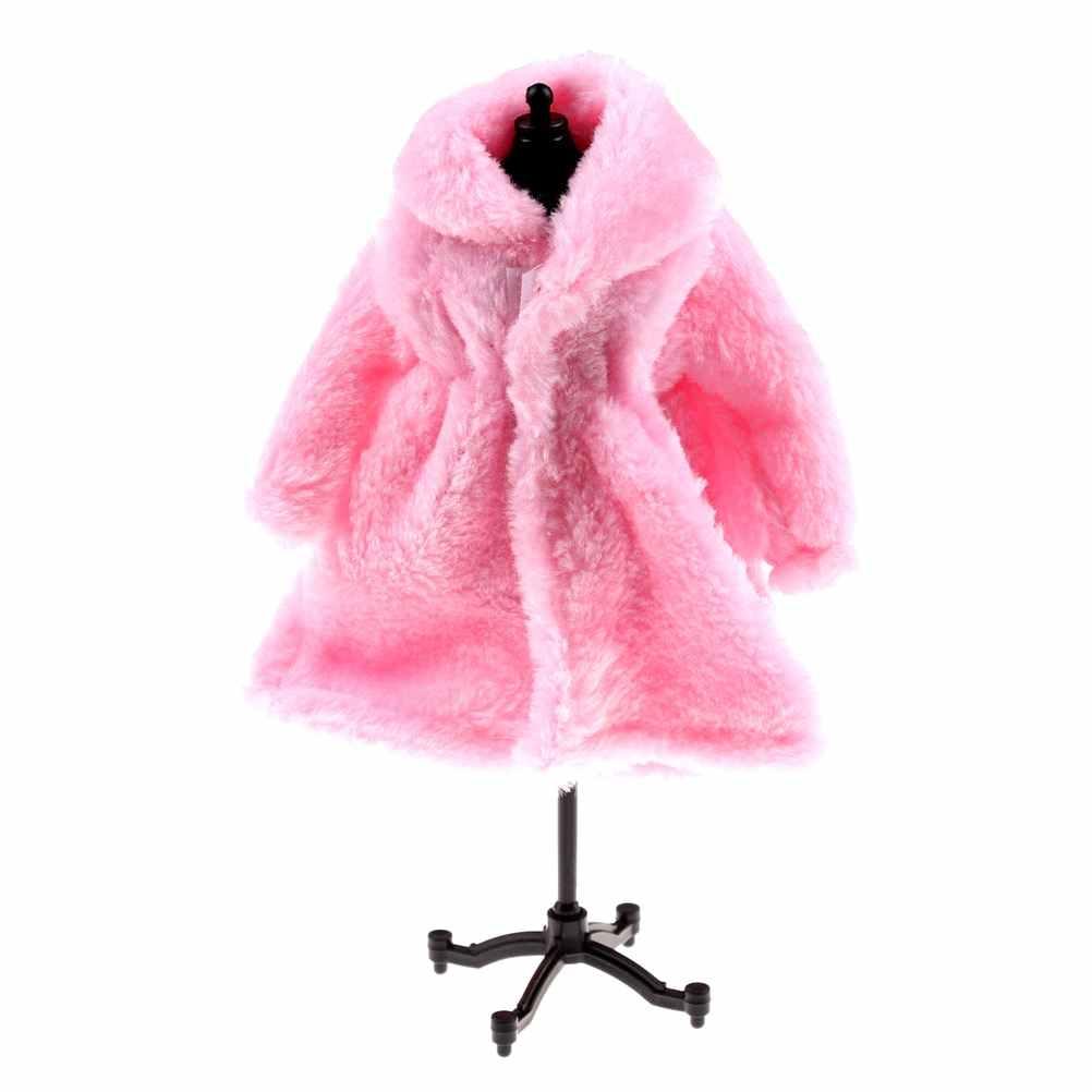 בובת אביזרי חורף ללבוש מעיל חם ילדה בובות פרווה בובת בגדי שמלת בגדי ילדה 1/6 BJD בובת ילדים צעצוע