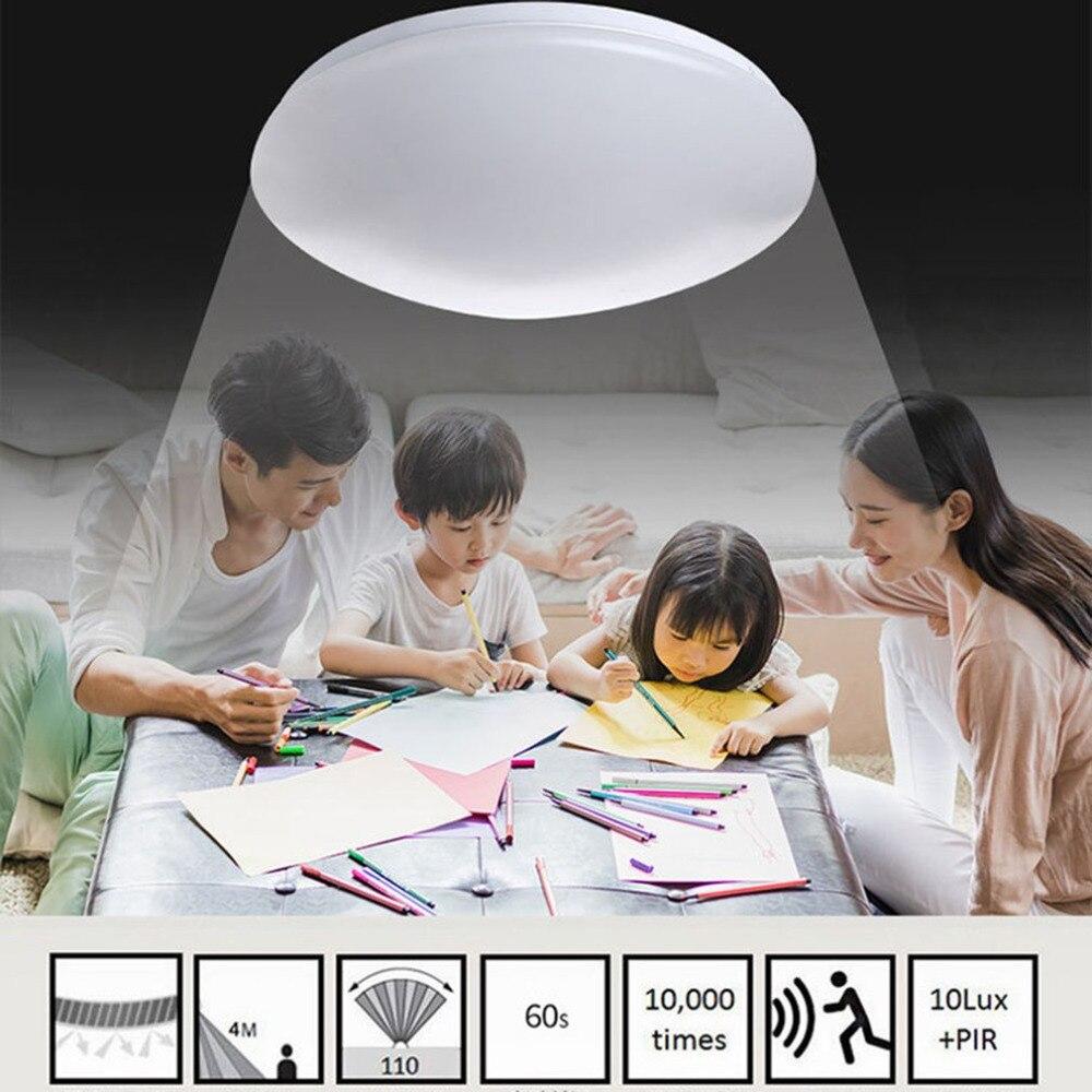 1pcs Intelligent Voice Radar Gecontroleerde Inductie Plafondlamp balkon plafond lamp lichtregeling gangpad lamp wc Night Lights