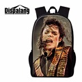 Dispalang hot sale Michael Jackson print school bagpack high quality middle school bags handsome boy casual men backpack mochila