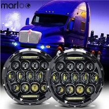 Marloo 7 дюймов круглый 75 Вт светодиодный фары для Jeep JK TJ/Kenworth T2000 T-2000 1998-2010 трактор, прицеп, грузовик лампы
