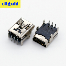 цена на cltgxdd Mini USB Type B 5-Pin Female Socket Right Angle DIP Jack Connector charging jack port