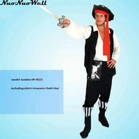 Nueva Caliente Desgaste Rendimiento Mascarada Pirata Cosplay Ropa de Rol de Disfraces de Halloween Hombres y Mujeres Capitán