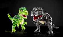 Jurassic Park Dinosaur World Assemble Building Blocks Tyrannosaurus Velociraptor Models Toys For Children Gift Compatible Animal