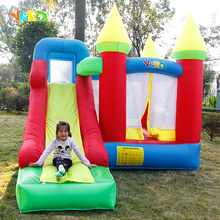 цена на 3.5x3x2.7M Inflatable Jumping Castle Trampoline With Slide PVC Oxford Bounce House Home Use Courtyard Grassland Inflatable Games