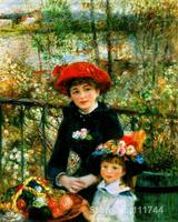 oil paintings reproduction Two sisters on the terrace by Pierre Auguste Renoir artwork High quality Hand painted