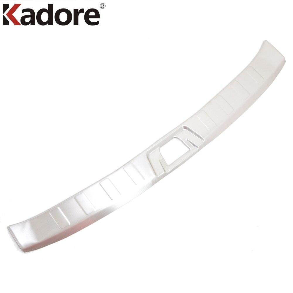Pour Nissan Qashqai 2014 2015 acier inoxydable couvercle de pare-chocs arrière plaque de bande de roulement seuil de pédale arrière garde-boue garniture de pare-chocs accessoires