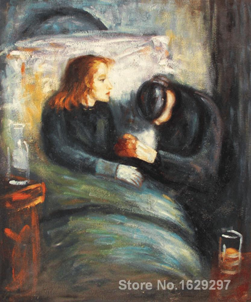 Painting by Edvard Munch art The Sick Child High Quality Hand paintedPainting by Edvard Munch art The Sick Child High Quality Hand painted