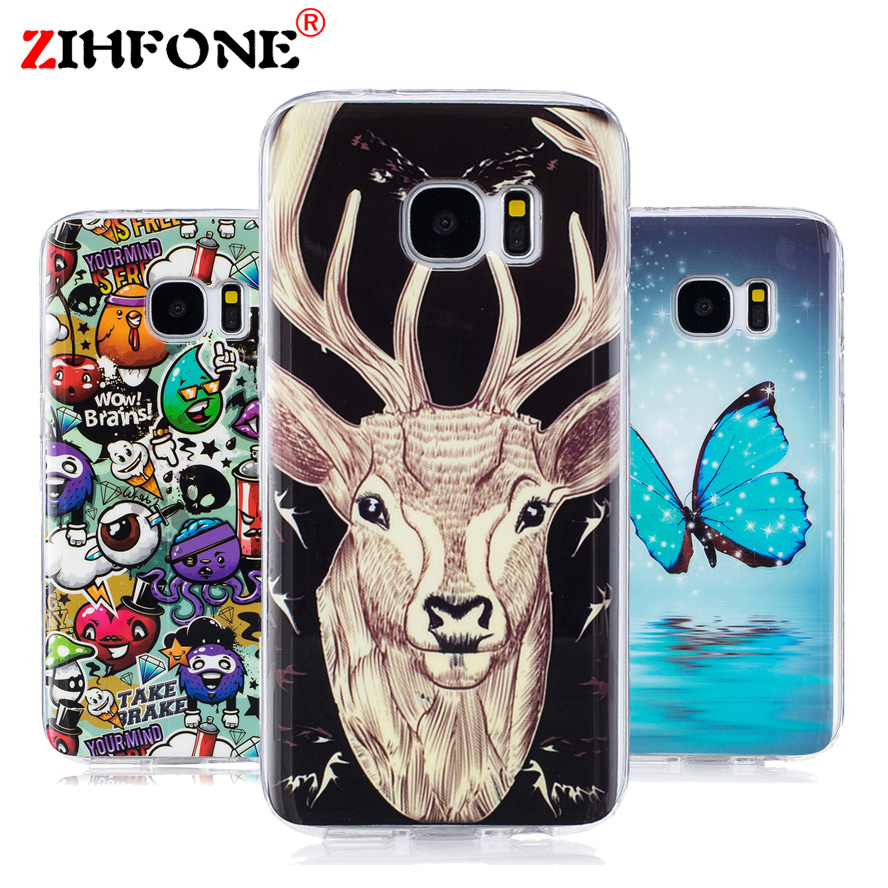 S7 Luminous Cases For SAMSUNG Galaxy S7 Duos SM-G930FD Soft TPU Silicon IMD Glossy Art Covers For Galaxy S7 SM-G930F G930T G930U