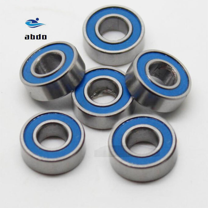 50 PCS 695-2RS Orange Metal Rubber Sealed Ball Bearing Bearings 5x13x4 mm