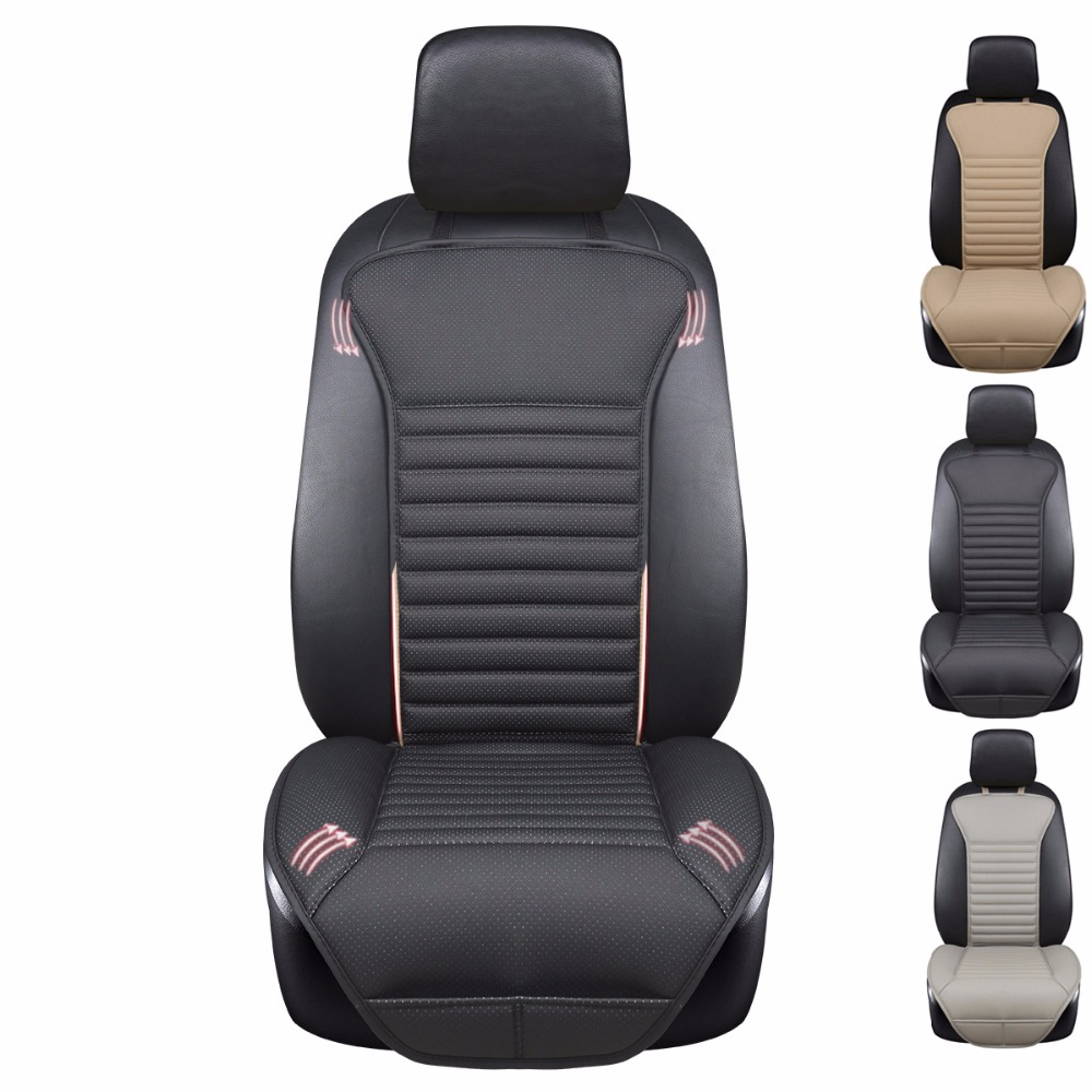 2018 brand new pu leather no wrinkle car seat cushions,not moves seat cushion, feel good universal non-slide seat covers image