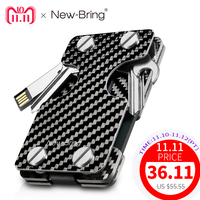 Multifunctional Carbon Fiber Credit Card Holder RFID Blocking Wallet Business Card ID Holder For Anti Theft Card Purse