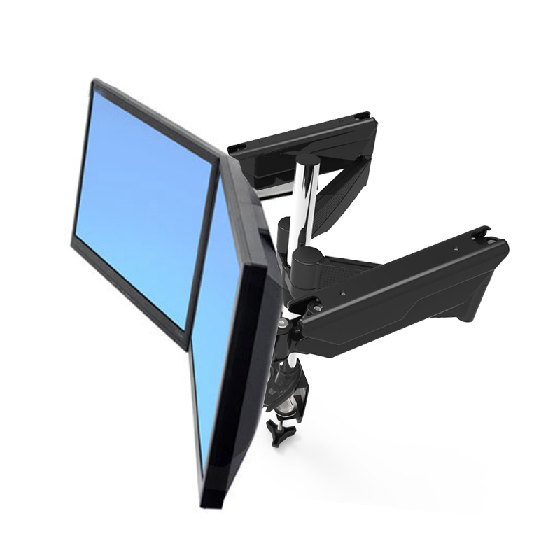 New Arrival Gas Spring Full Motion Dual Screen LED LCD Monitor Holder Desktop Mounting Base Rack tv mount MD5422