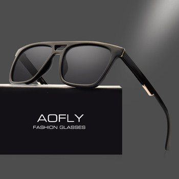 AOFLY Square Vintage Polarized Sunglasses Male Unisex Sunglasses Fashion Brand Designer UV400 Driving Eyewear Oculos AF8043