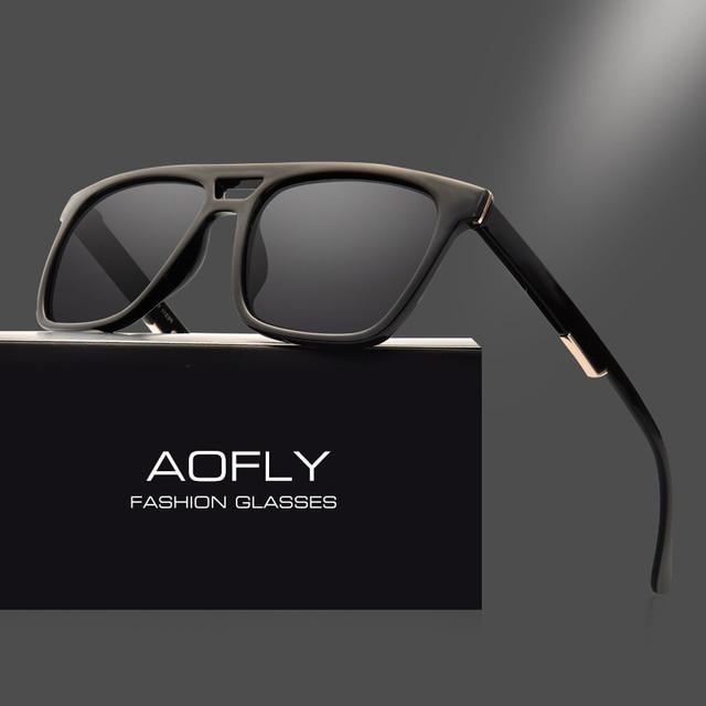 AOFLY Carré Vintage lunettes de Soleil Polarisées Mâle Unisexe lunettes de  Soleil De Mode Marque Designer 2ad5f14bc48b