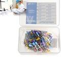 100 pc/caixa Dental de Nylon Colorido Tigela PB-330 Polimento Polidor Prophy Brushes Escova Apartamento Tipo de Clareamento Dos Dentes Higiene Oral