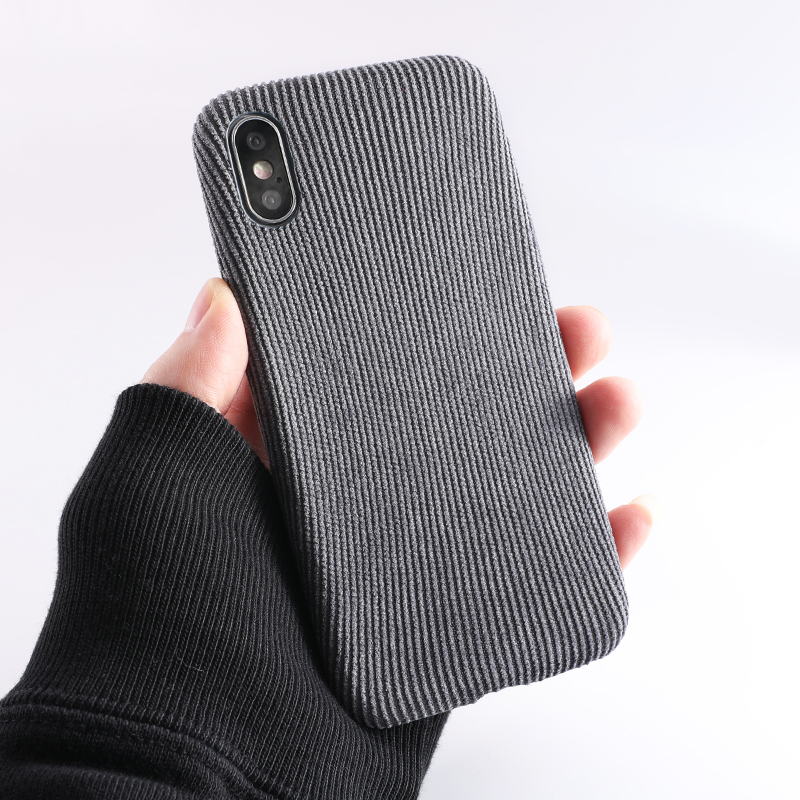 SoCouple Plush Fabrics Phone Case For iphone X 7 8 6 6S plus Case For iphone Xs max XR Cloth Texture Soft Back Cover Capa Fundas (9)