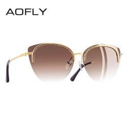 AOFLY BRAND DESIGN Sun Glasses for Women 2018 Sunglasses Elegant Luxury Style Decoration Shades Female Gafas de sol A144