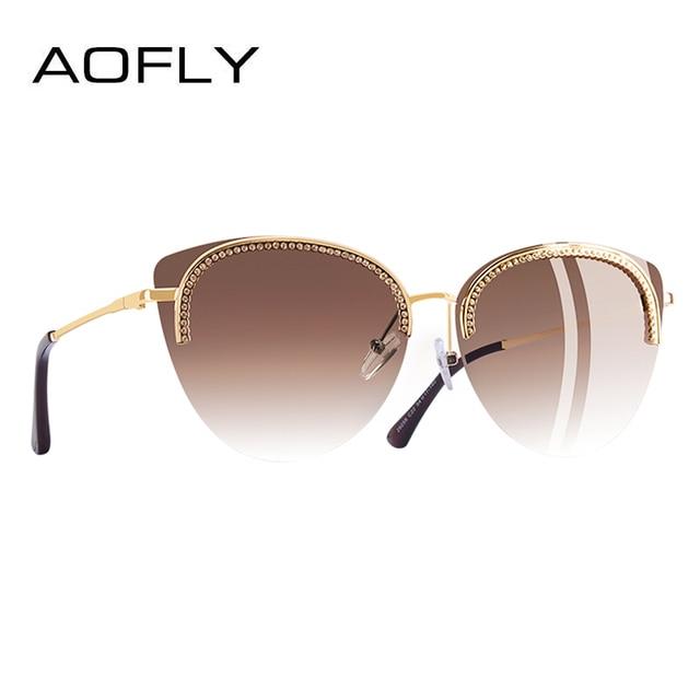 AOFLY бренд дизайн солнцезащитные очки для женщин солнцезащитные очки элегантные роскошные Стиль украшения оттенков женские гафы De Sol A144