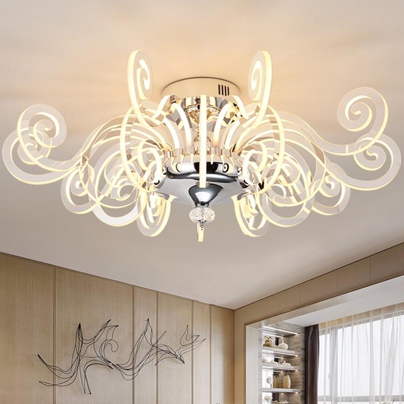 Modern personality Led Luster living room chandeliers simple art restaurant room lamp Acrylic chandelier Lighting Fixture