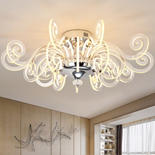 Modern personality Led Luster living room chandeliers simple art restaurant room lamp Acrylic chandelier Lighting Fixture