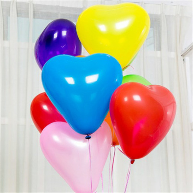 10Pc Red Pink Balloons 10Inch Love Heart Latex Balloons Wedding Helium Balloon Valentines Day Birthday Party Inflatable Balloons 4
