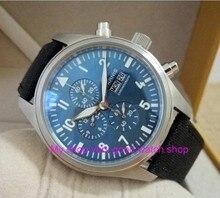 42mm PARNIS blue dial Japanese quartz movement men's watch Auto Date Multi-function quartz watches wholesale