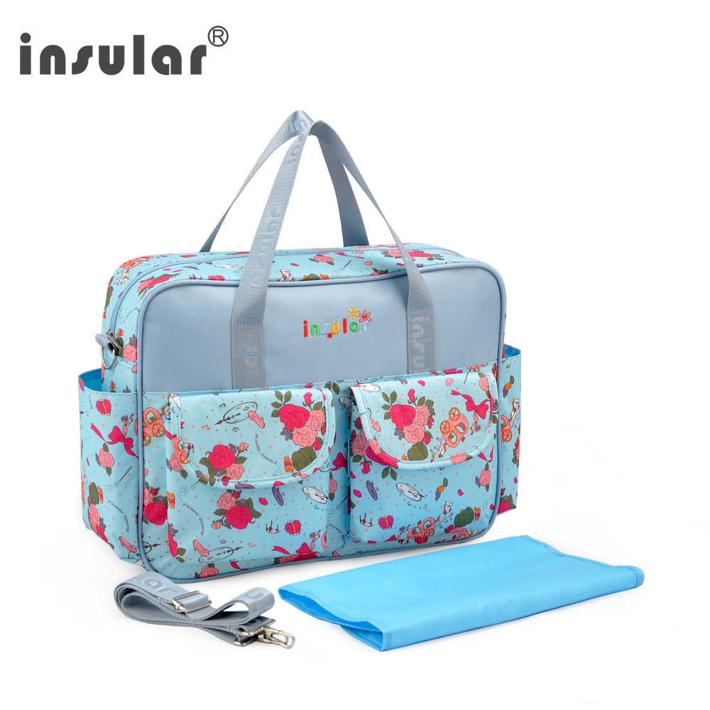 AliBebe Store Insular Waterproof Women Messenger Bag Baby Diaper Bag For Mummy Nappy Changing Bags Baby Stroller Hanging Bag