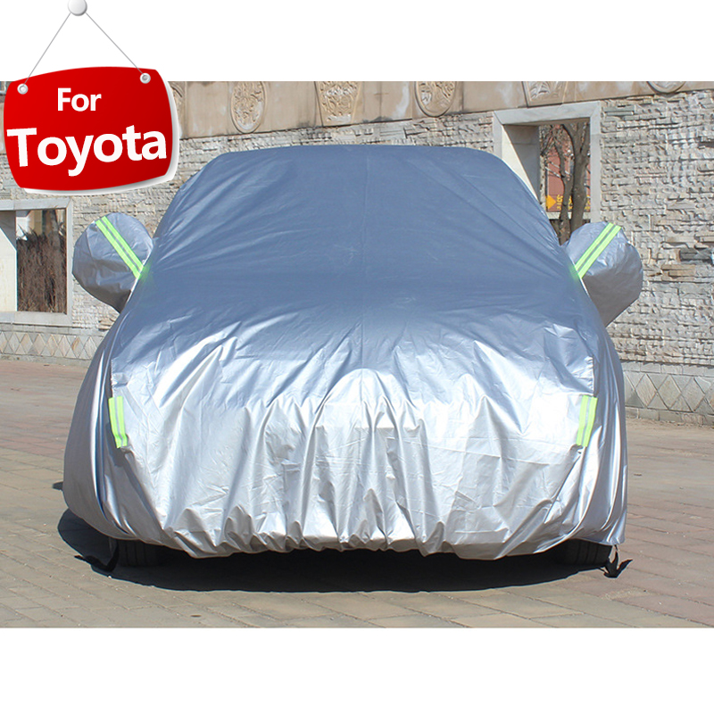 Image 1 - Full Car Covers For Car Accessories With Side Door Open Design Waterproof For Toyota CHR RAV4 Camry Corolla CHR Yaris Avensis-in Car Covers from Automobiles & Motorcycles