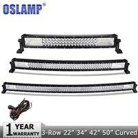Oslamp 42inch 400W CREE Chips 7D Curved LED Light Bar Combo Beam Led Work Light 12v
