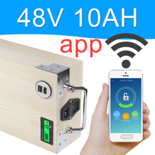 APP 48V 10AH Electric bike LiFePO4 Battery Pack Phone control Electric bicycle Scooter ebike Power 500W Wood