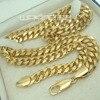 Men S 18K 18CT Gold Filled GF 7mm Width 60cm Length Chain Necklace N246